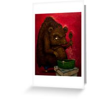 Who the Funk ate my Porridge (oiloncanvas) Greeting Card