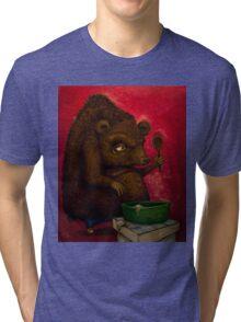 Who the Funk ate my Porridge (oiloncanvas) Tri-blend T-Shirt