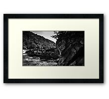 Walking through the Gorge Framed Print