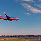 Approaching Reagan Natl. Airport, Washington D.C. by Bine