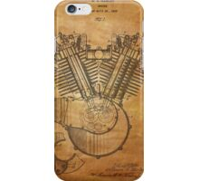 Harley Engine patent from 1919  iPhone Case/Skin