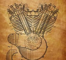 Harley Engine patent from 1919  by chris2766