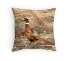 Pheasant - Early Spring Throw Pillow