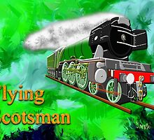 Flying Scotsman with Blinkers by Dennis Melling