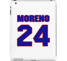 National baseball player Omar Moreno jersey 24 iPad Case/Skin