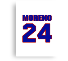 National baseball player Omar Moreno jersey 24 Canvas Print