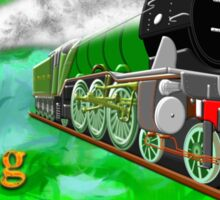 Flying Scotsman with Blinkers Sticker