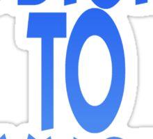 Oxygen blue Sticker