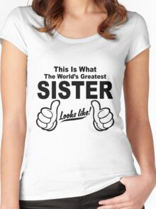 Worlds Greatest Sister Looks Like Women's Fitted Scoop T-Shirt