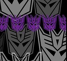 The Iconic Decepticons (black) by Vitalitee