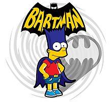 Bartman: the simpsons superheroes Photographic Print