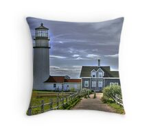 Cape Cod Light in HDR Throw Pillow