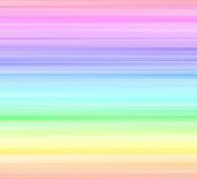 Pastel Horizontal Stripe Pattern by TigerLynx