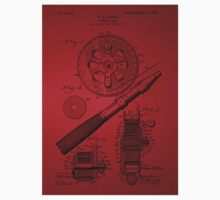 Fishing Reel Patent 1906 - Red Kids Clothes