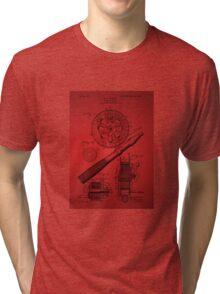 Fishing Reel Patent 1906 - Red Tri-blend T-Shirt