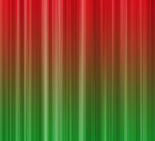 Red and Green Vertical Stripe Pattern by TigerLynx