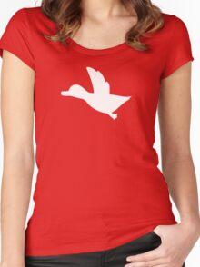 Duck Hunt Symbol - Super Smash Bros. (white) Women's Fitted Scoop T-Shirt