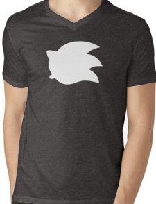 Sonic the Hedgehog Symbol - Super Smash Bros. (white) Mens V-Neck T-Shirt