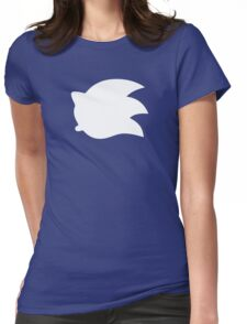 Sonic the Hedgehog Symbol - Super Smash Bros. (white) Womens Fitted T-Shirt