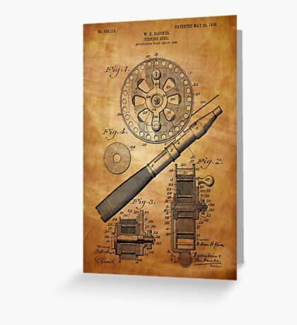 Fishing Reel Patent 1906  Greeting Card