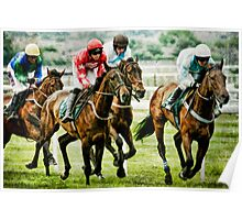 Night Orbit and Quell The Storm at Aintree Poster