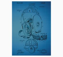Football Helmet Patent  From 1927 - Blue Kids Clothes