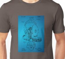 Football Helmet Patent  From 1927 - Blue Unisex T-Shirt