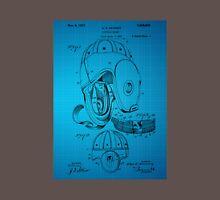 Football Helmet Patent  From 1927 - Blue Unisex T-Shirt
