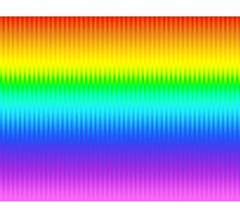 Bright Rainbow Vertical Stripe Pattern Photographic Print