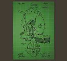 Football Helmet Patent  From 1927 - Green T-Shirt