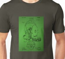 Football Helmet Patent  From 1927 - Green Unisex T-Shirt
