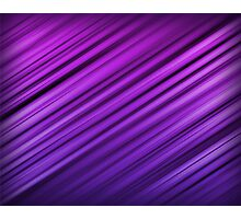 Purple Diagonal Abstract Stripe Pattern Photographic Print