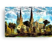 Lichfield Cathedral, Staffordshire Canvas Print