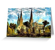 Lichfield Cathedral, Staffordshire Greeting Card