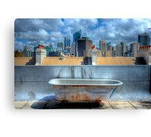 Old Bathtub on Rooftop - Darlinghurst, Sydney, Australia Canvas Print