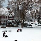 Hilly Fields Crescent in the snow by John Gaffen