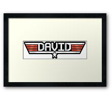 David callsign Framed Print