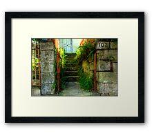 Rustic Gateway and Steps - Womerah Avenue, Darlinghurst, NSW Australia Framed Print