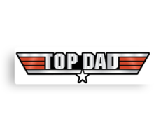 Top Dad Callsign Canvas Print