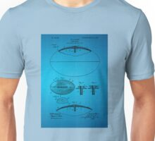 Football Patent Drawing From 1903 - Blue Unisex T-Shirt
