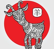 Goat. Symbol of the new year 2015. by Katyau