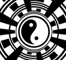 Mandala 36 Yin-Yang Back In Black Sticker