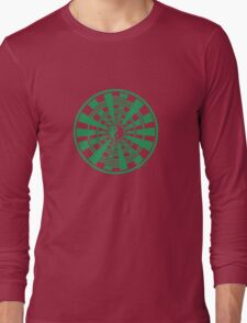 Mandala 36 Yin-Yang Green With Envy Long Sleeve T-Shirt