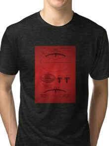 Football Patent Drawing From 1903 - Red Tri-blend T-Shirt