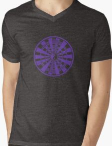 Mandala 36 Yin-Yang Purple Haze Mens V-Neck T-Shirt