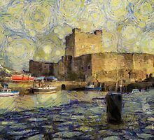 Starry Starry Carrickfergus Castle by Nigel R Bell