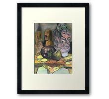 Octopus Head Cookie Jar Framed Print