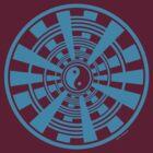 Mandala 36 Yin-Yang In To The Blue by sekodesigns