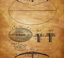 Football Patent Drawing From 1903  by chris2766