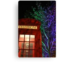 Telephone Box and Branches Canvas Print